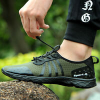 Men's Air Mesh Quick Drying Aqua Water Shoes Breathable Lightweight Walking