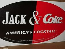 WHISKEY & COCA-COLA - Real Big OLD SIGN - ADVERTISES  BOTH  COKE & JACK DANIEL'S