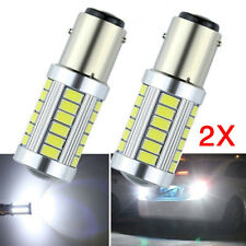 2Pcs White BAY15D 1157 1142 Car Tail Stop Brake Light 5630 33 SMD LED Bulbs 12V