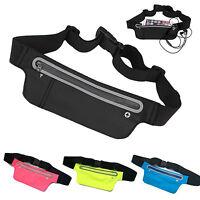 Unisex Waterproof Waist Belt Bumbag Running Sport Travel Pouch Mobile Wallet Bag