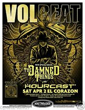 Volbeat / The Damned Things 2011 Seattle Concert Tour Poster-Denmark Metal Music