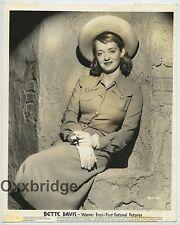 BETTE DAVIS Stunning Sepia Glamour Photo LINEN MOUNTED 1942 Warner Bros. J1097