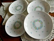"""Rosenthal Germany Garland Multicolor Romance Set of 4 Soup Coupe Bowl 8 1/2"""""""