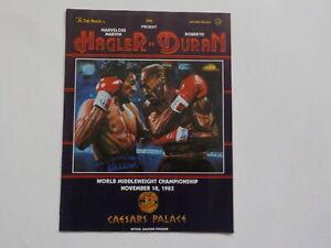 ROBERTO DURAN vs MARVIN HAGLER Boxing Program 1983 Original Las Vegas Nevada VTG
