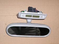 VW BEETLE(98-05) GREY INTERIOR REAR VIEW MIRROR, CLOCK, LIGHT COMBO  - 1C0867511