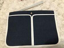 Kate Spade Canvas Plunge Small Zip Wristlet Clutch Pouch Blazer Blue $68 New