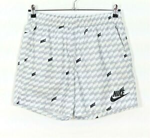 Nike White & Grey Swimming Shorts Size Medium