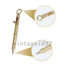 EDC Handmade Tactical Self Defense Pen Copper Brass Ball Point Pen 1PCS