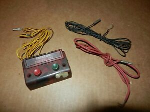 """A C Gilbert Erector  """"OD"""" Control Box w/Wires,  Late 1940's Vintage,  Original"""