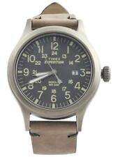 Timex Men's TW4B01700 Expedition Scout 40 Grey/Brown Analog Watch