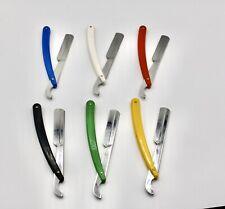Lot of 6 Turkish Cut Throat Razor - Straight Modern Shaving Shavette, Sedef New