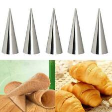 Steel Pastry Cake Cream Horn Molds Conical Cone Mould K8S8
