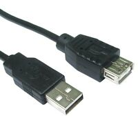 1.8 Metre Black USB EXTENSION Male to Female Cable 1.8m