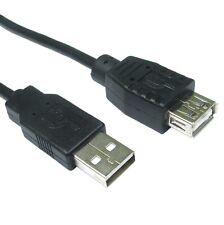 Brevi prolunga USB 25cm Nero Maschio a Femmina Cavo 0.25m