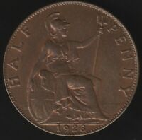 1923 George V Halfpenny Coin | British Coins | Pennies2Pounds