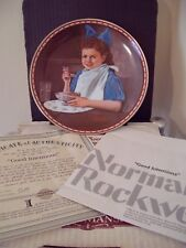 Boxed Knowles Plate - Good Intentions - Norman Rockwell - Studies Of Girlhood