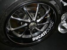 Ducati Corse Felgenaufkleber Felgenbänder rim-rim stickers weiß NEU!