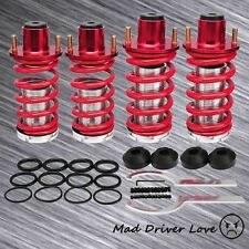 88-00 HONDA CIVIC CRX DEL SOL SUSPENSION COILOVER LOWER SPRINGS W/ TOP HAT RED