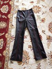 Escada Black Leather Pants Sz.36/Us.6 Small