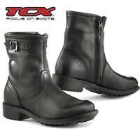 Stiefel Von Motorrad Damen TCX Lady Biker Waterproof IN Leder Verstärkt Black