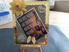 Handmade Doily Edge Frame Hunkydory Friend Card Topper, Flower, Butterfly