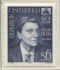 Österreich Austria 1803 100. Geburtstag von Alban Berg, Komponist - 1985 **