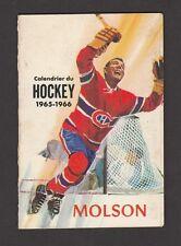 1965-66   MOLSON  HOCKEY SCHEDULE