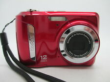 KODAK C143 RED Digital Point and Shoot Camera USES AA BATTERIES WORKING