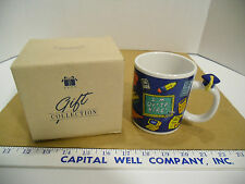Vintage 1998 Avon Gifts Special Graduate Coffee Mug Graduate's Blue Cap - NEW