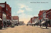 Aberdeen South Dakota~Main Street~Hotel~Schlitz Beer~Saloon~Ladner~1910 Postcard