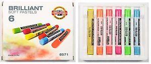 Brilliant Soft Pastel Neon Highlighter Dry Powder Fluorescent Stick KOH-I-NOOR