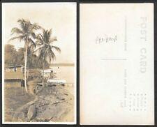 Old Panama Real Photo Postcard - Coastal Scene