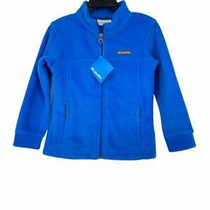 NWT Columbia Baby's Granite Mountain II Fleece Jacket Blue Sz 4T Full Zip Pocket