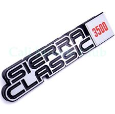 GMC Sierra Classic 3500 1p Fender Nameplate 1984 1985 1986 1987 1988 1989 Emblem