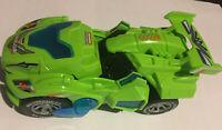 LED Deform Dinosaur Car Electric Lights Music for Children Gifts Toy Blue Q1