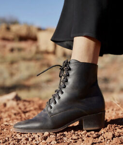 NEW Christy Dawn The Dawn Boot in Noir Leather Size 9