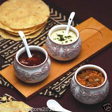 Kitchen Craft Indian Chutney Bowl & Spoon Set Relish,Dips,Sauce Serving Dishes