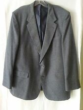 Austin Manor Blazer 47L Mens Tweed Gray Blue 2 Button Sport Coat Jacket 1 Vent