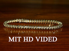 Diamant Armband 2,29 Ct Champagner Diamanten Gelbgold ca. 15 gramm 17cm
