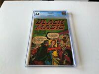 BLACK MAGIC 10 CGC 2.5 JACK KIRBY PRE CODE HORROR TAPE INTERIOR PRIZE COMICS