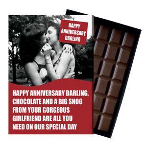Novelty Chocolate Gifts Lesbian Civil Partner LGBT Greeting Anniversary Card Box
