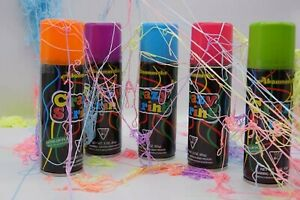 6 x New Formula Silly String Crazy String Party Streamer Non-flammable Non-toxic