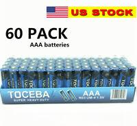 60 pack AAA Batteries Extra Heavy Duty 1.5v. 60 Pack Wholesale Bulk Lot