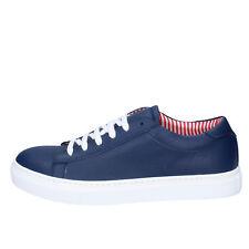 scarpe uomo DI MELLA 43 EU sneakers blu pelle AB933-E