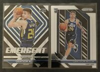 Grayson Allen 2018-19 Panini Prizm RC Rookie Card Base Emergent Lot Of 2