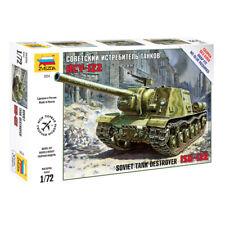 Zvezda #5054 ISU-122  Soviet Self Propelled Gun  WWII  1:72 New!