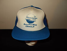 VTG-1980s Cummings Marine Bass Pro Shop Clinton Illinois snapback hat sku24