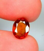 7.9 Ct Natural Orange Hessonite Garnet  Oval Cut Cushion Cabochon Gemstone  A550