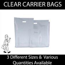 More details for clear plastic carrier bag punch handle varigauge gift retail boutique fashion