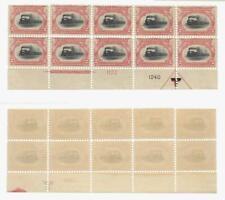Trains: US  Sc.294 MNH margin pl. block of 10, separations, cat. $1100